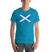 "Aqua / S Scotland Flag ""Solo"" Short-Sleeve Unisex T-Shirt by Design Express"