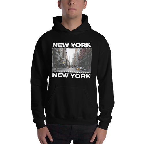 S New York Unisex Black Hoodie by Design Express