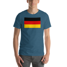 Heather Deep Teal / S Germany Flag Short-Sleeve Unisex T-Shirt by Design Express