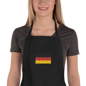"Black Germany Flag ""Solo"" Embroidered Apron by Design Express"