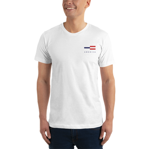 America Tower Pattern Embroidered T-Shirt