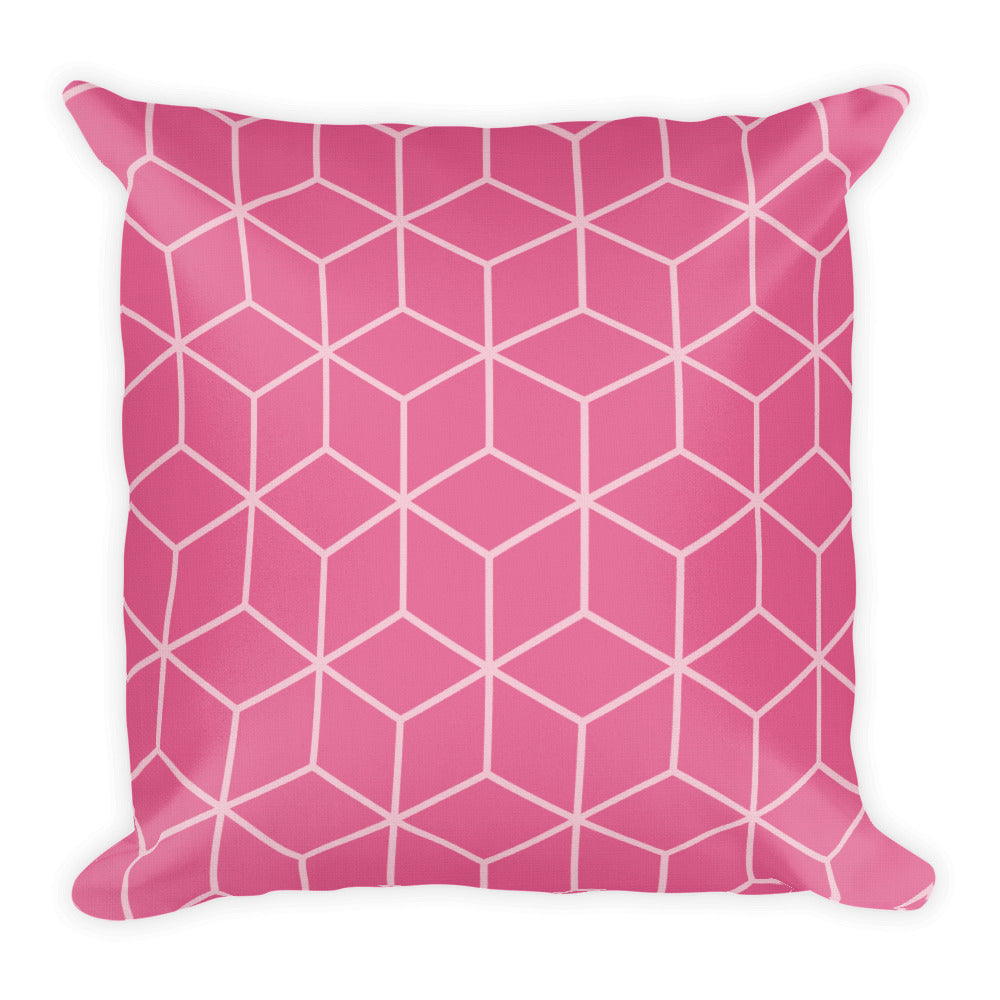 Default Title Diamonds Candy Pink Square Premium Pillow by Design Express