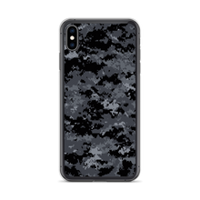 iPhone XS Max Dark Grey Digital Camouflage Print iPhone Case by Design Express
