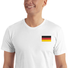 White / S Germany Flag Embroidered T-Shirt by Design Express