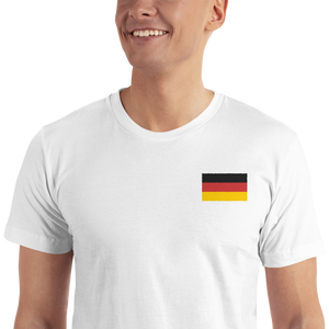 Germany Flag Embroidered T-Shirt