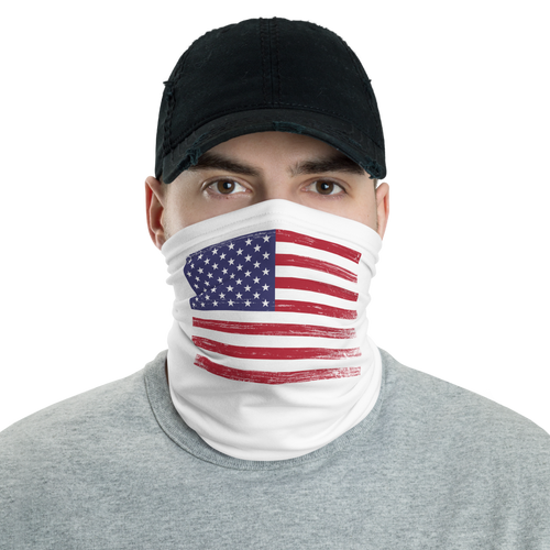 Distressed US Flag Face Mask & Neck Gaiter