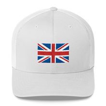 "White United Kingdom Flag ""Solo"" Trucker Cap by Design Express"