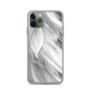 iPhone 11 Pro White Feathers iPhone Case by Design Express