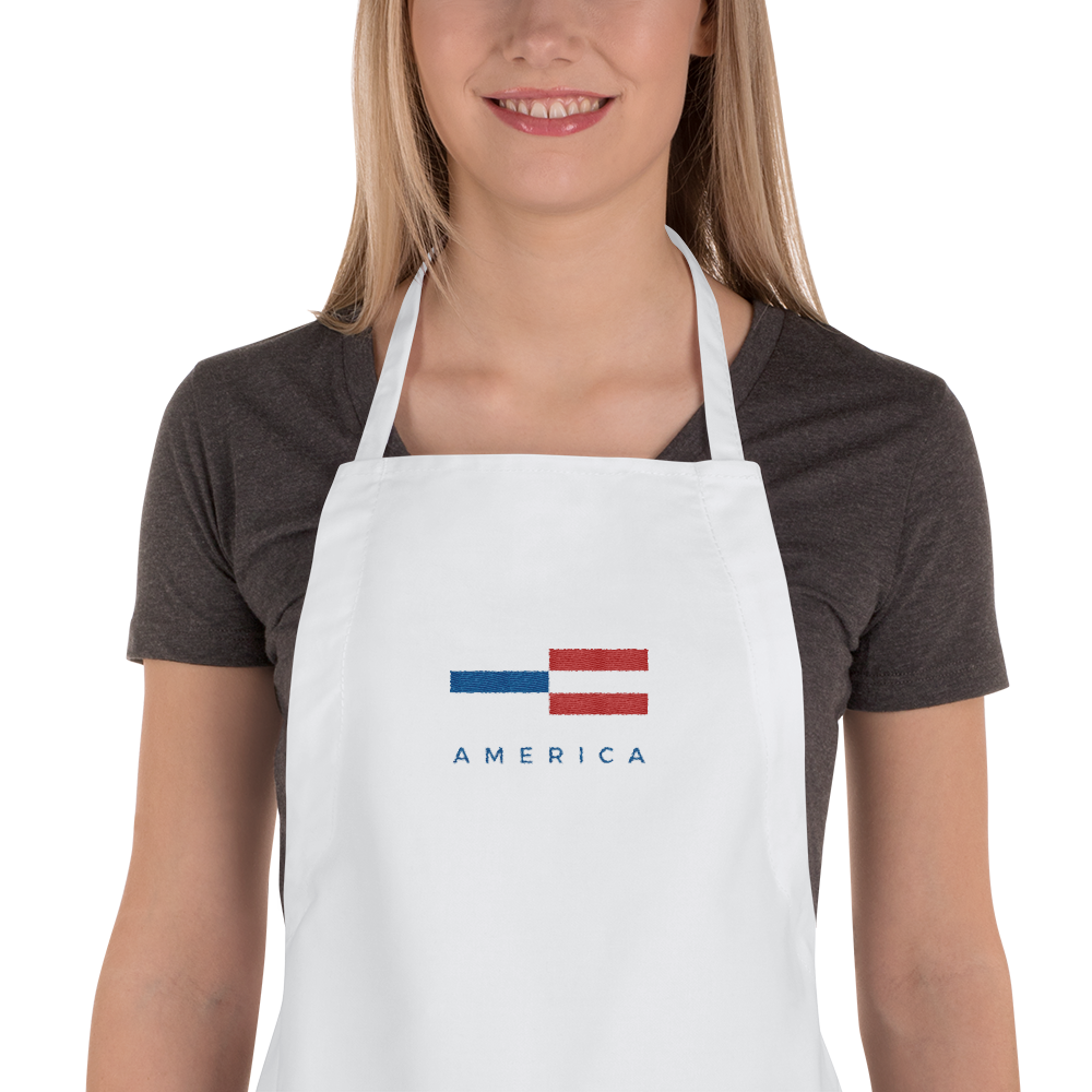 Default Title America Tower Pattern Embroidered Apron by Design Express