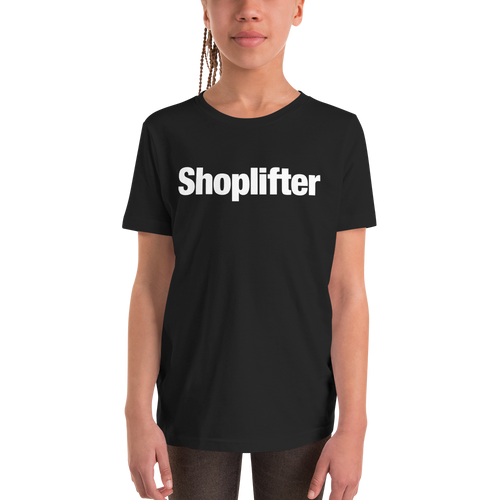 Black / M Shoplifter Unisex Youth T-Shirt by Design Express
