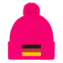 Neon Pink Germany Flag Pom Pom Knit Cap by Design Express