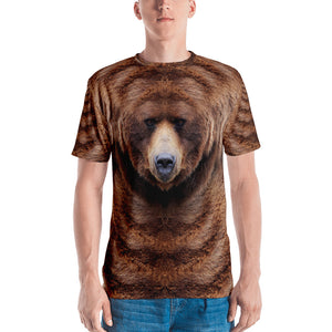 "XS Grizzly ""All Over Animal"" Men's T-shirt All Over T-Shirts by Design Express"