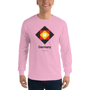 "Light Pink / S Germany ""Diamond"" Long Sleeve T-Shirt by Design Express"