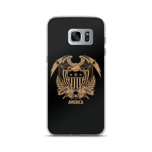 Samsung Galaxy S7 Edge United States Of America Eagle Illustration Reverse Gold Samsung Case Samsung Cases by Design Express