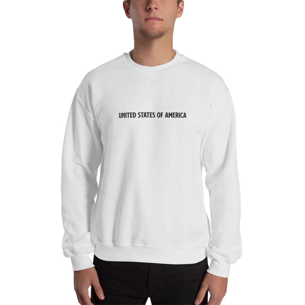 White / S United States Of America Eagle Illustration Backside Sweatshirt by Design Express