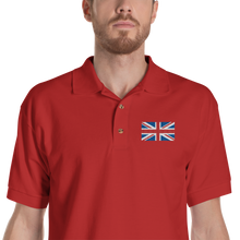 "Red / S United Kingdom Flag ""Solo"" Embroidered Polo Shirt by Design Express"