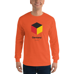 "Orange / S Germany ""Cubist"" Long Sleeve T-Shirt by Design Express"