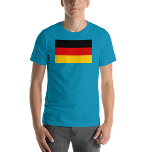 Aqua / S Germany Flag Short-Sleeve Unisex T-Shirt by Design Express