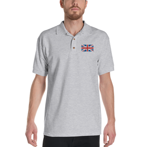 "United Kingdom Flag ""Solo"" Embroidered Polo Shirt by Design Express"