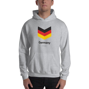 "Sport Grey / S Germany ""Chevron"" Hooded Sweatshirt by Design Express"