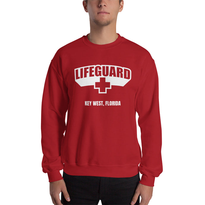 Lifeguard [Customizable] Classic Red Unisex Sweatshirt