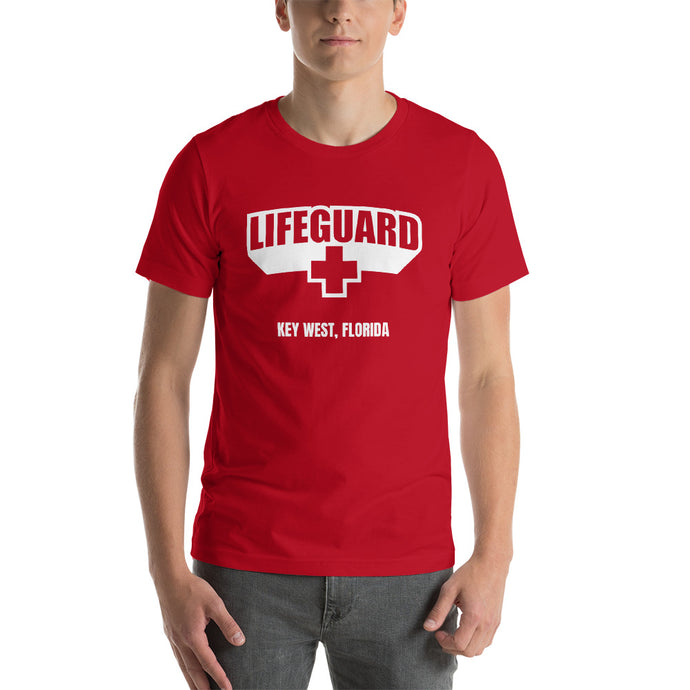 Lifeguard [Customizable] Red Unisex T-Shirt
