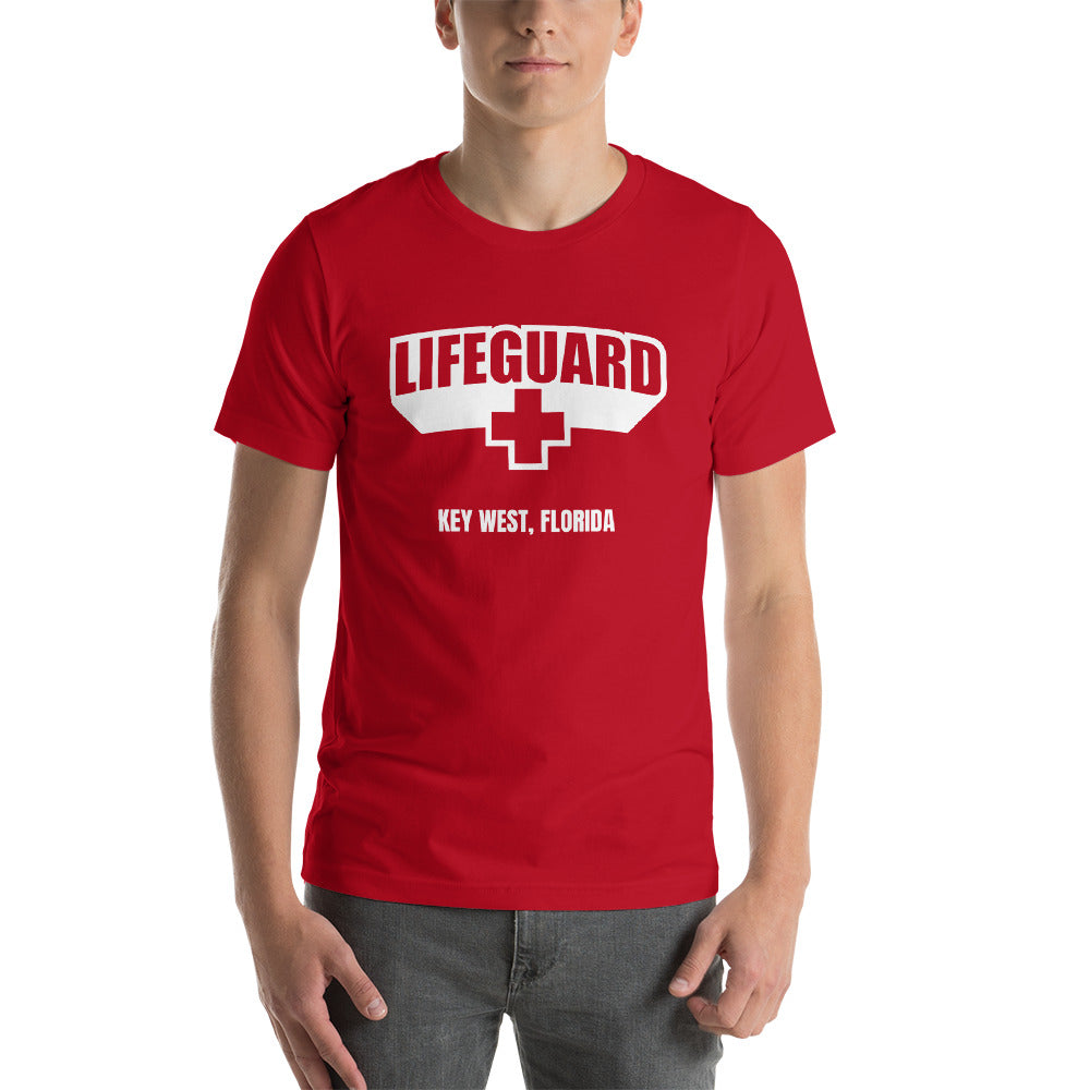 Lifeguard [Customizable] Red Unisex T-Shirt by Design Express