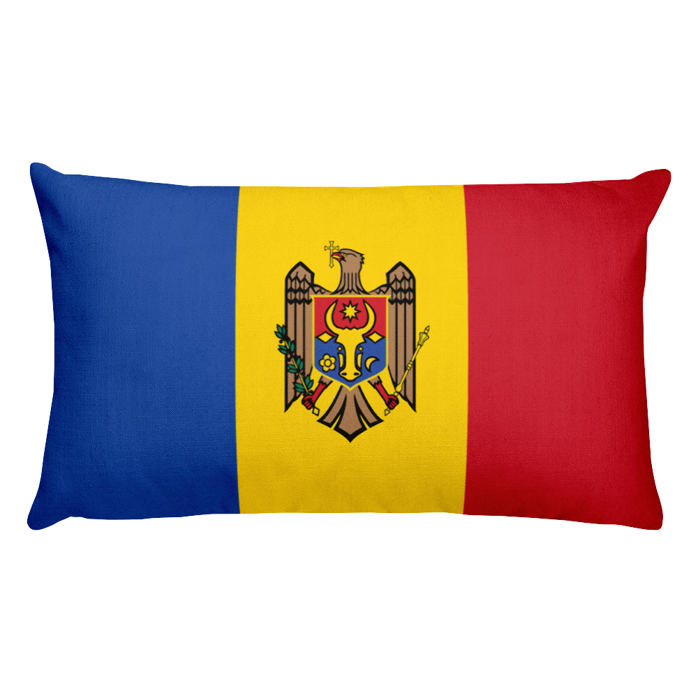 Default Title Moldova Flag Allover Print Rectangular Pillow Home by Design Express