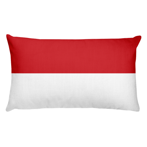 Default Title Monaco Flag Allover Print Rectangular Pillow Home by Design Express
