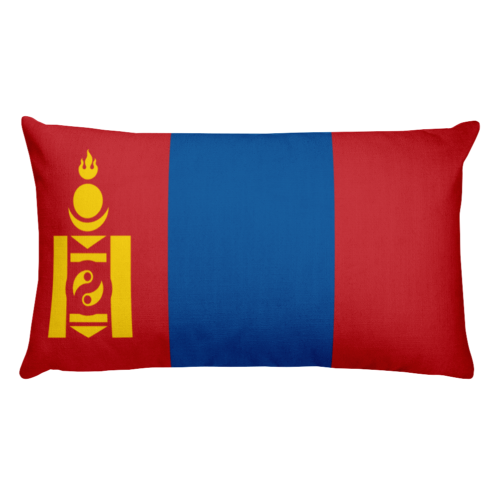 Default Title Mongolia Flag Allover Print Rectangular Pillow Home by Design Express