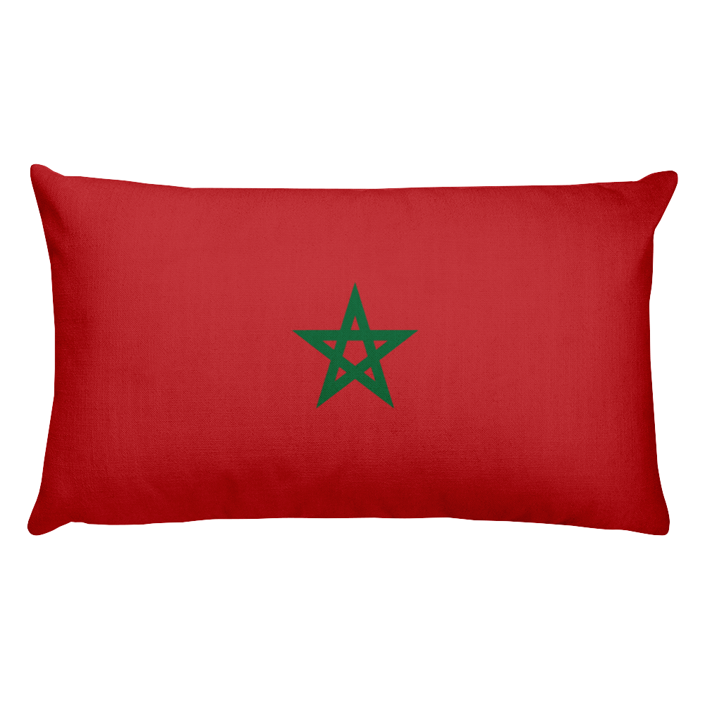 Default Title Morocco Flag Allover Print Rectangular Pillow Home by Design Express
