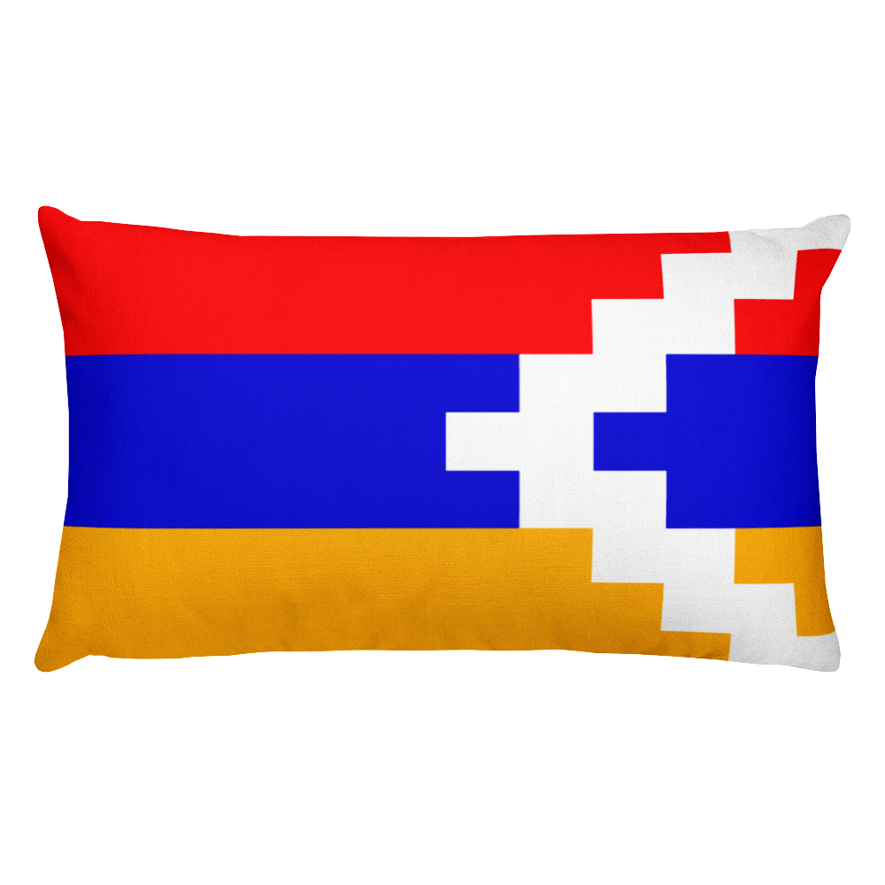 Default Title Nagorno Karabakh Flag Allover Print Rectangular Pillow Home by Design Express