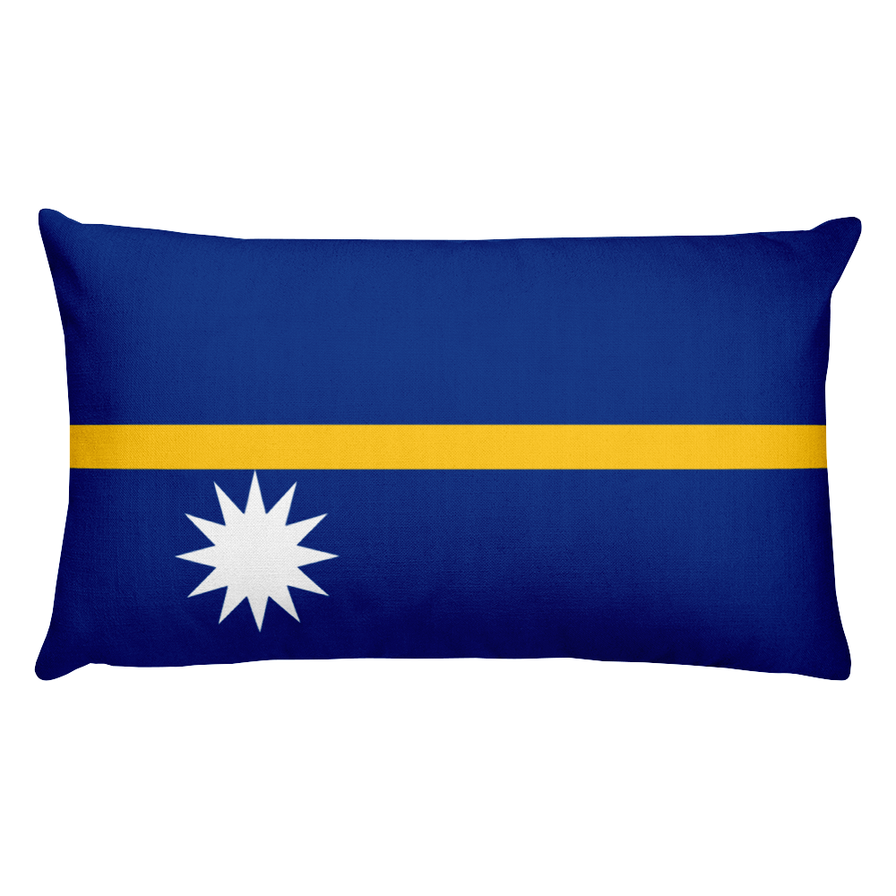 Default Title Nauru Flag Allover Print Rectangular Pillow Home by Design Express