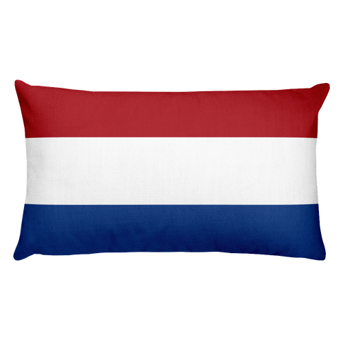 Default Title Netherlands Flag Allover Print Rectangular Pillow Home by Design Express
