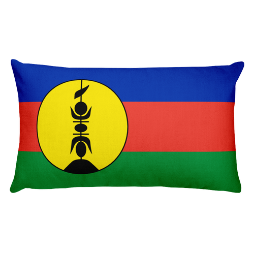 Default Title New Caledonia Flag Allover Print Rectangular Pillow Home by Design Express
