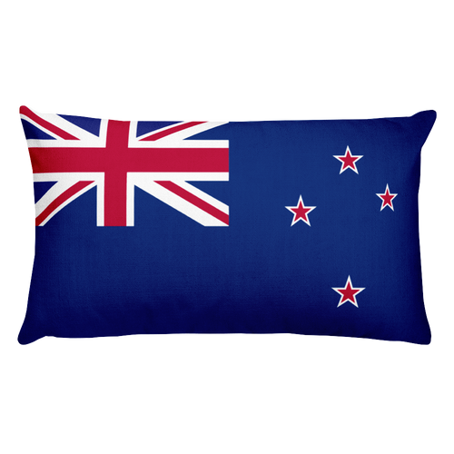 Default Title New Zealand Flag Allover Print Rectangular Pillow Home by Design Express