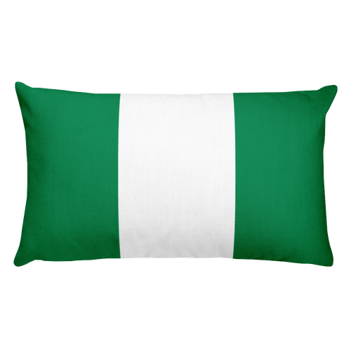 Default Title Nigeria Flag Allover Print Rectangular Pillow Home by Design Express