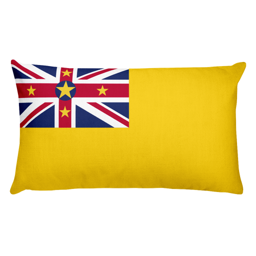 Default Title Niue Flag Allover Print Rectangular Pillow Home by Design Express