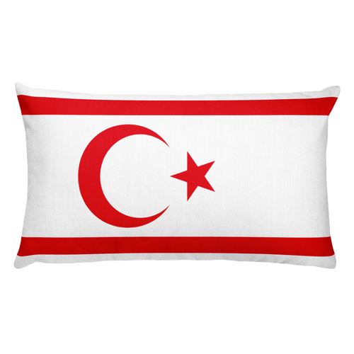 Northern Cyprus Flag Allover Print Rectangular Pillow