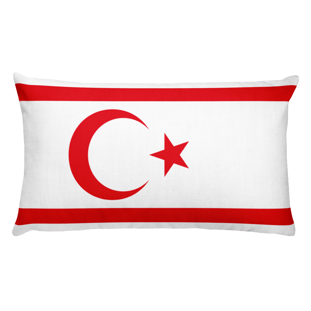 Default Title Northern Cyprus Flag Allover Print Rectangular Pillow Home by Design Express