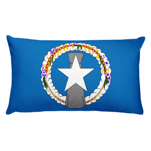 Default Title Northern Mariana Islands Flag Allover Print Rectangular Pillow Home by Design Express