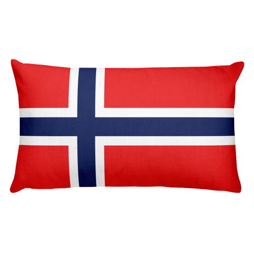 Default Title Norway Flag Allover Print Rectangular Pillow Home by Design Express