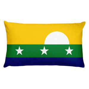 Default Title Nueva Esparta Flag Allover Print Rectangular Pillow Home by Design Express