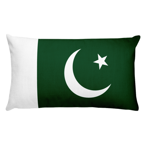 Default Title Pakistan Flag Allover Print Rectangular Pillow Home by Design Express