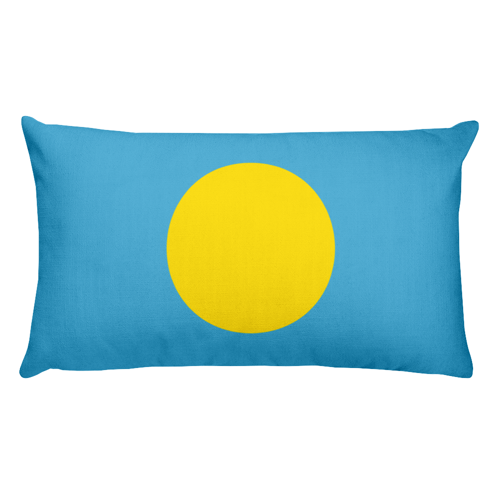 Default Title Palau Flag Allover Print Rectangular Pillow Home by Design Express