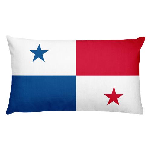 Default Title Panama Flag Allover Print Rectangular Pillow Home by Design Express