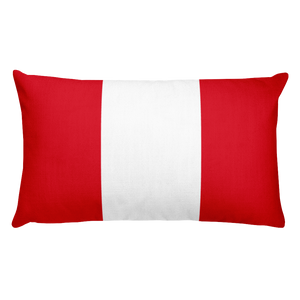 Default Title Peru Flag Allover Print Rectangular Pillow Home by Design Express