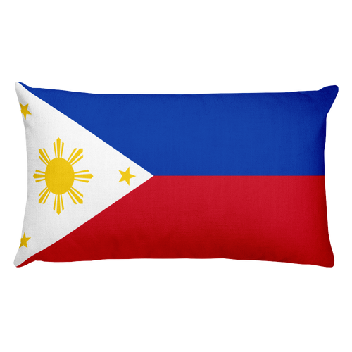 Default Title Philippines Flag Allover Print Rectangular Pillow Home by Design Express