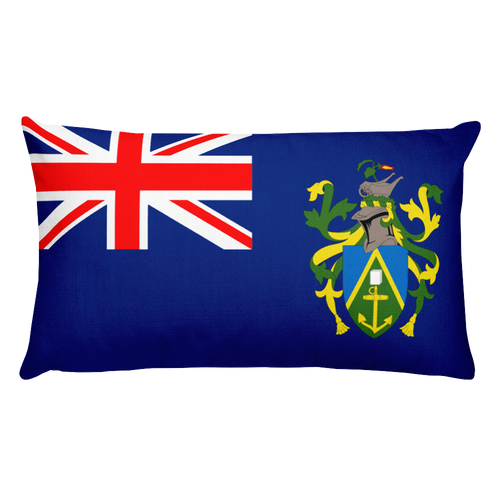 Default Title Pitcairn Islands Flag Allover Print Rectangular Pillow Home by Design Express