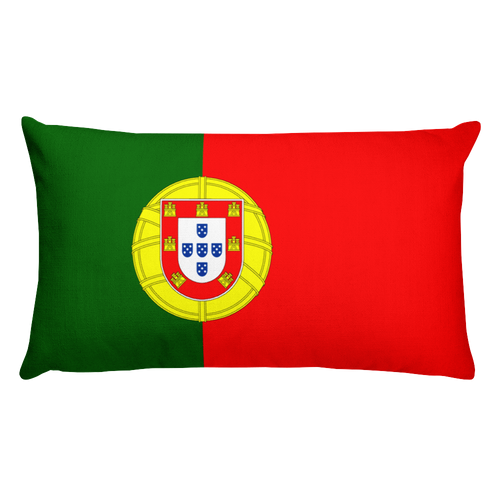 Default Title Portugal Flag Allover Print Rectangular Pillow Home by Design Express